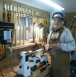 Brian Childers in his Brookings, OR workshop.
